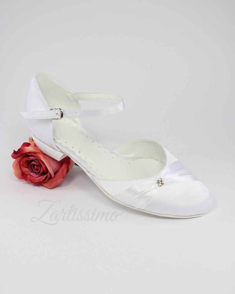 brautschuhe ballerina flache pumps hochzeit weiss ivory 36. Black Bedroom Furniture Sets. Home Design Ideas