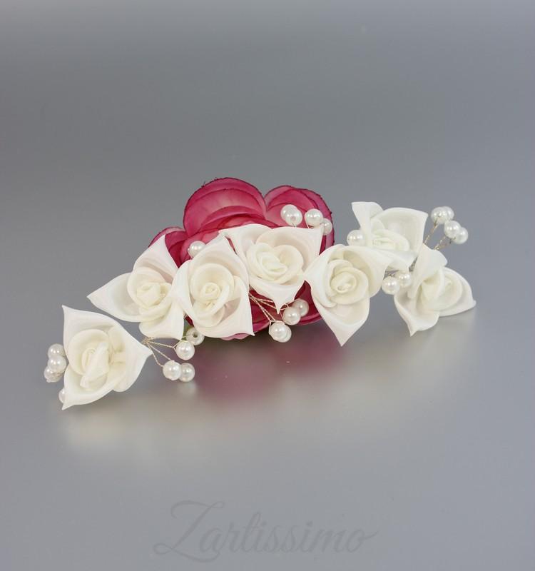 braut haarschmuck blumen hochzeit rosen perlen. Black Bedroom Furniture Sets. Home Design Ideas